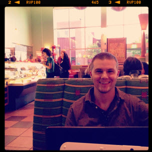 john fedro eating on road trip