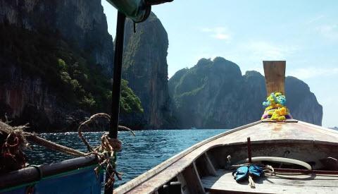 long boat ko phi phi