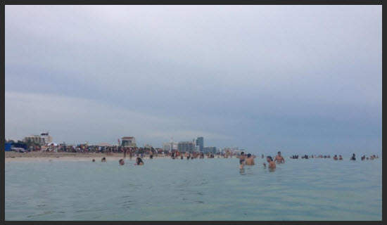 South Beach from water