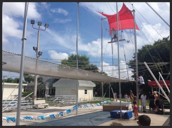 trapeze at Club Med