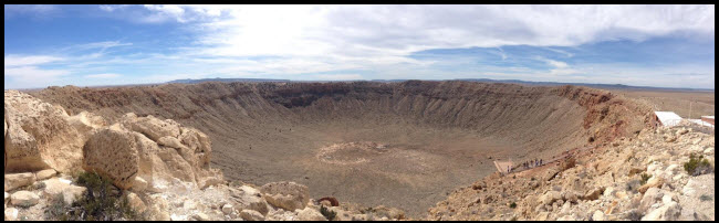 mobile home road trip meteor crater